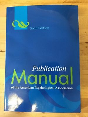 Publication Manual of the American Psychological Association 6th Edition [PDF]