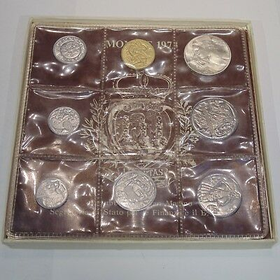 San Marino 8 coin mint set 1973 original box w/COA 1 silver coin 1-500 Lire