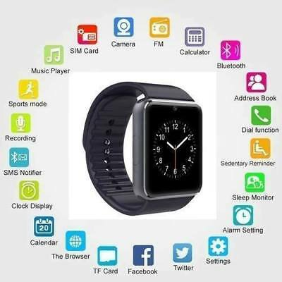 GT08 Smartwatch Tarjeta Sim Conectividad Bluetooth para Android y Apple iPhone.