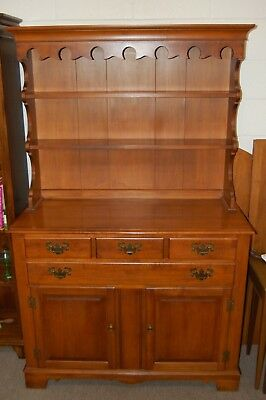 Early American Hutch Hard Rock Maple Tell City Chair Company Indiana USA Made