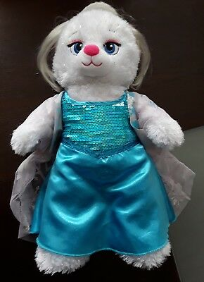 Build A Bear Disney Frozen Elsa Sparkle Dress Costume & Wig