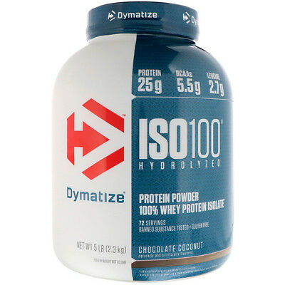 DYMATIZE Nutrition Iso 100 Whey Protein Isolate Post Workout Powder-907 / 2.27kg