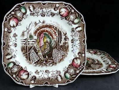 Johnson Brothers HIS MAJESTY 2 Square Salad Plates GREAT CONDITION