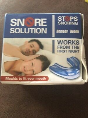 Snore Solution Mouthpiece Stops Snoring