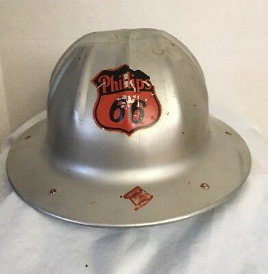 VINTAGE BF McDONALD PHILLIPS 66 GAS OIL FIELD WELL HARD HAT sign MINING safety
