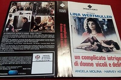 Locandina vhs UN COMPLICATO INTRIGO DI VICOLI. (1986) DomoVideo used Only Cover