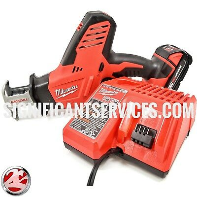 New Milwaukee 2625-21 M18 One-Handed Cordless Reciprocating Saw Hackzall Kit