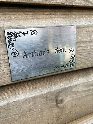 bench plaque engraved plaque bench sign brass stainless steel effect