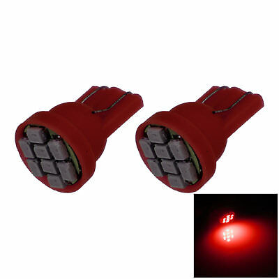 2x Red Car T10 W5W Generation Bulb Interior Light 8 1206 SMD LED A037