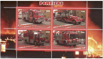 Fire Engines -  Sheet of 4  - SV0523