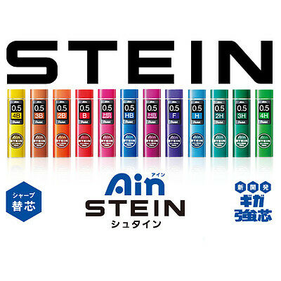 Pentel Ain Stein Mechanical Pencil Lead Refills - HB/2B - 0.3/0.5/0.7 mm
