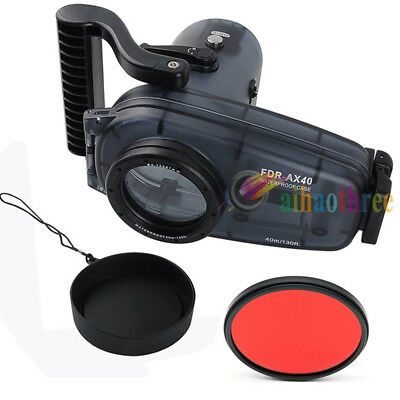 Meikon 40m 130ft Waterproof Diving Housing Case For Sony FDR-AX40 AX40 Camera