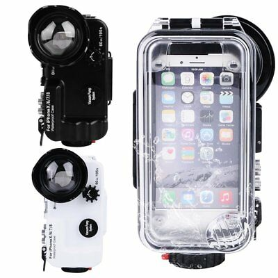 Seafrogs 60m/195ft Waterproof Case + Wide Angle + Bluetooth For iPhone 6 7 8 X
