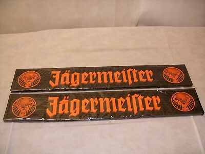 (2) JAGERMEISTER Branded Promo Barware Rubber Bar Rail Spill Mat *NEW*