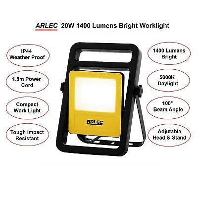 ARLEC LED Work Light 20W 1400 Lumens  Weather Proof 5000K Daylight Worklight