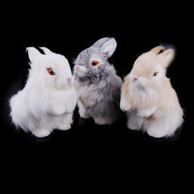 13cm Realistic Artificial Rabbit Lifelike Easter Bunny Furry Spring Figurine