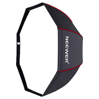 "Neewer 47"" Octagonal Softbox Umbrella with Red Edges for Canon Nikon Speedlite"