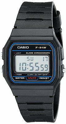 Casio Men's F91W-1 'Classic' Digital Black Stainless Steel Watch