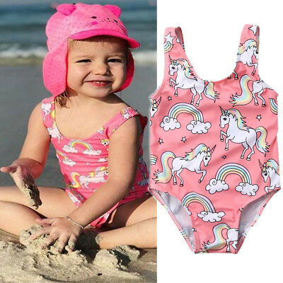 Newborn Baby Girl Swimsuit Unicorn Swimwear Swimming Bikini Beachwear Clothes