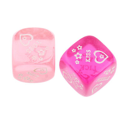 2x Six Sided Adult Sex Dices Fun Novelty Gift Couples Bedroom Foreplay Props
