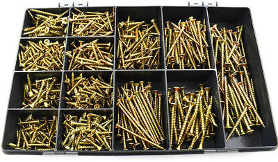 1700 PCE 6g 7g 8g 10g TIMCO ASSORTED YELLOW ZINC CHIPBOARD SOLO WOOD SCREWS KIT