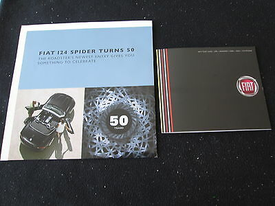 2017 Fiat 124 Spider Foldout Brochure / Poster Classica Lusso Abarth Catalog Set