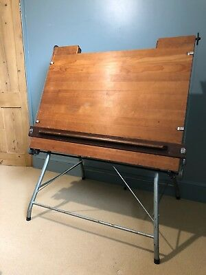 Vintage Wooden Draftsmans/Architects/Drawing Table - fully working condition.