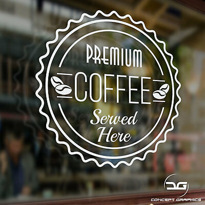Coffee Shop Advertisement Takeaway Cafe Window Door Sign Vinyl Decal Sticker