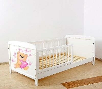 NEW WHITE- JUNIOR TODDLER  COT-BED 140x70 no 2 - INCLUDING FOAM MATTRESS