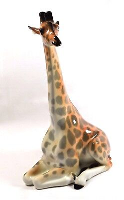 ViNTAGE USSR LOMONOSOV LARGE GIRAFFE WITH LONG NECK PORCELAIN FIGURINE RUSSIAN