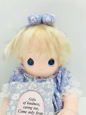 """1992 Precious Moments Baby Doll Pretty As A Picture Vinyl Soft Body 14"""""""