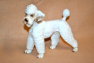 "Vtg Shafford Blue Ribbon Collection French Poodle Dog Figurine 6 3/4"" Long"