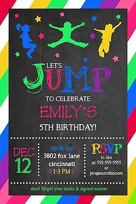 Jump bounce house trampoline park birthday party invitation add jump bounce house trampoline park birthday party invitation add photo stopboris Images