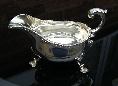 Antique Solid Silver Hallmarked Gravy Boat  Very Heavy !  408g 13 troy/oz