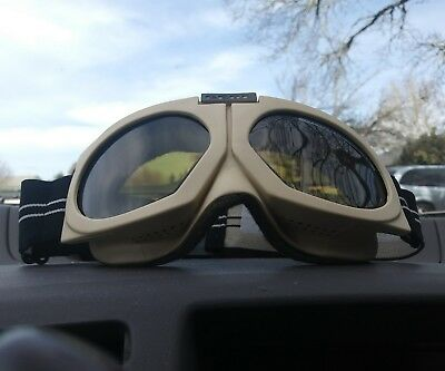 Vintage Cebe Goggles! Snowboarding Skiing Model 1542 Made in France, Military?