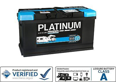 12V 100AH Platinum AGM Ultra Deep Cycle Low Height Leisure Battery - 3yrs Wrnty