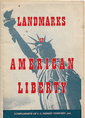 1950 J.C. Penney Patriotic Booklet Landmarks of American Liberty 28 Pages