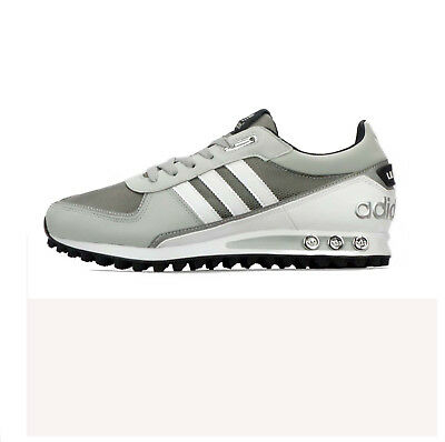 uk availability 23e6e b18bf Mens Adidas La Trainer Ii Grey White Leather Trainers G95099