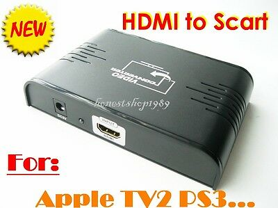 New LKV382 HDMI to Scart TV Video Converter 1080P PAL Support  TV2 DVD PS-3