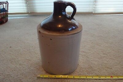 "Vintage ceramic moonshine growler, stonewear whiskey jug 7"" x 11"" Nice!"