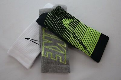 Nike Performance Cushioned Crew Youth Size S (3Y-5Y) and M (5Y-7Y) New with Tags