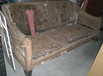 Antique Vintage Chesterfield Style Sofa Frame Western CT Couch to Upholster