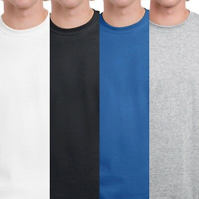 Gildan Men's T-Shirt Heavy Cotton (Pack of 5) Bulk Lot Solid Blank S-2XL x5  NEW