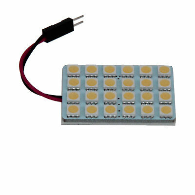 1x Warm White AUTO Panel Footwell Lamp Map Light 24 5050 SMD LED J006