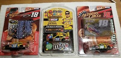 Lot Of 3 Kyle Busch 1:64 Diecast NASCAR  #18  M&M's 2009  pull back car