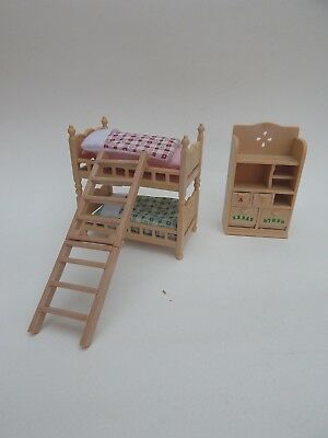 Sylvanian Families bunk beds and chest of drawers