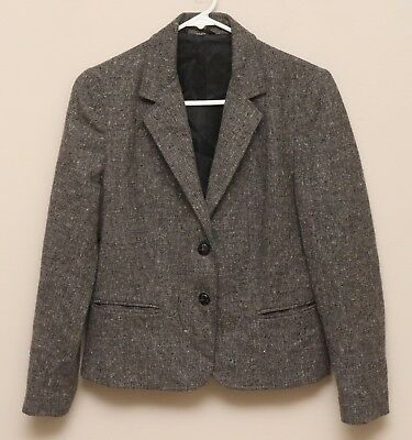 Vintage 1970s Boys Grey Check Fleck Wool Tweed Blazer