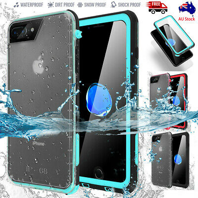 For iPhone 8 6 6S 7 / Plus Slim Waterproof Shockproof Dirt Proof Full Case Cover