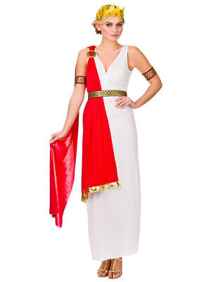 Adult Greek Goddess Costume Ladies Roman Toga Womens Fancy Dress Outfit New
