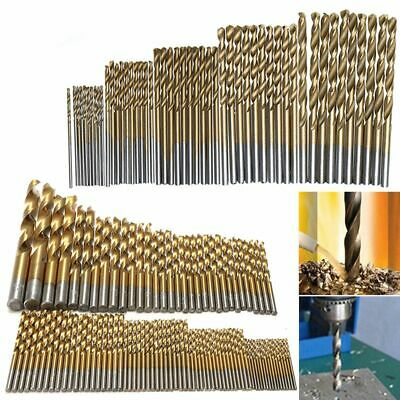 50/99pcs 1mm-10mm Titanium Coated HSS High Speed Steel Drill Bits Set Tool
